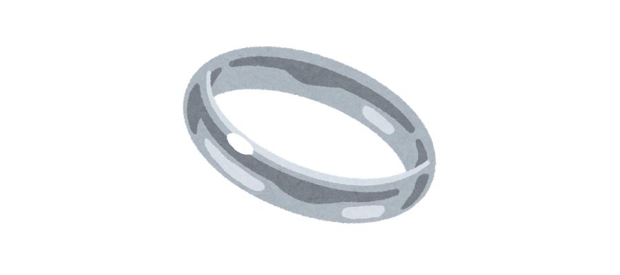 遺品整理での貴金属買い取りのポイントプラチナの指輪イラスト