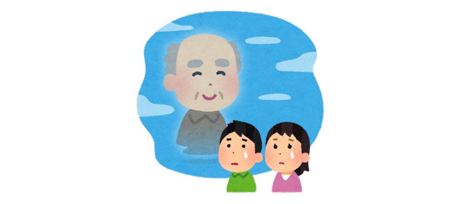 親の家(実家)の片付け方・遺品整理・生前整理のコツ遺品整理の進め方故人イラスト